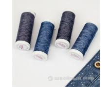 Нитки для отстрочки меланж Nokton №80С Aurora (джинсовые)