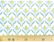 647241-195 Ткань Gutermann Notting Hill/738 Бежевый/ голубой цветок