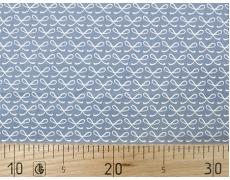647381-076 Ткань Gutermann Fenton House/407 Голубой в белые бантики
