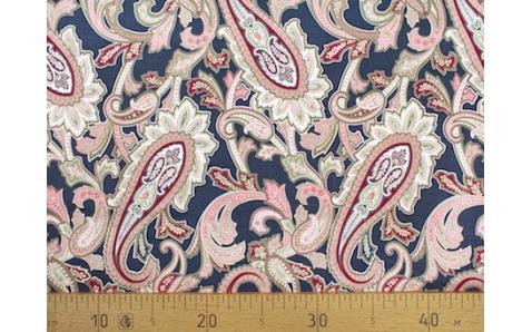 647563-593 Ткань Gutermann Marrakesch Восточный огурец на темно-синем фоне