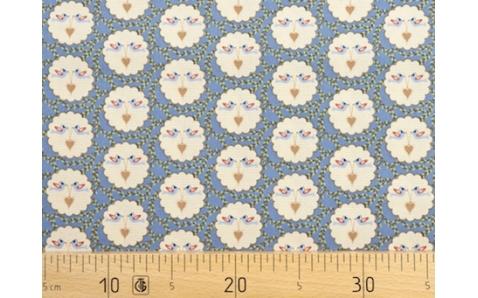 649414-143 Ткань Gutermann Lizzy's Garden Голубой/Птицы, держащие сердце