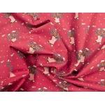 649430-519 Ткань Gutermann Lizzy's Garden Красный/букет цветов  в сапогах