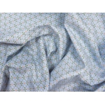649473-276 Ткань Gutermann Lizzy's Garden Голубой в ромбовидном рисунке