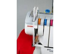 200204208 Лапка для пришивания ленты или тесьмы с направляющим барабаном к оверлоку JANOME (FAMILY)