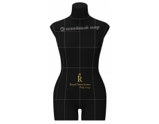 Профессиональный мягкий портновский манекен RDF Monica, р. 44 (черный)