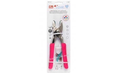 390902 Prym Love Щипцы-перфоратор VARIO для установки кнопок и блочек, розовые