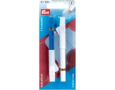 611626 Prym Карандаши меловые 11 см белый/голубой