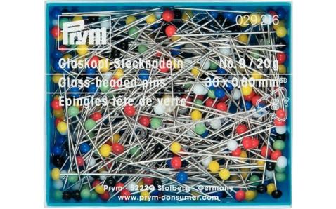 029216 Prym Булавки портновские с цветными головками 30*0.6 мм