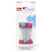Булавки с пластиковыми головками в виде сердечек и бабочек (Prym 028521) 50 шт.