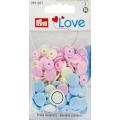 """393007 Prym Кнопки  """"Color Snaps"""" круглые розовые, голубые, жемчужные 12,4 мм 30шт."""