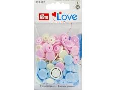 """393007 Prym Кнопки  """"Color Snaps"""" круглые розовые, голубые, жемчужные"""