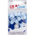 """393009 Prym Love Кнопки """"Color Snaps"""" круглые белые, голубые, синие 12,4 мм 30шт."""