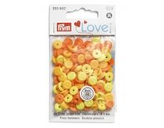 "393602 Prym Love Кнопки""Color Snaps Mini""круглые с имитацией стежка d-9мм (36шт.)"