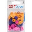 """393006 Prym Love Кнопки """"Color Snaps""""круглые, ассорти (оранж, роз.,фиолет.)"""