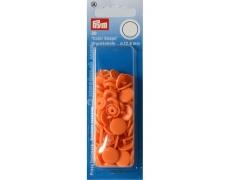 """393140 Prym Кнопки """"Color Snaps"""" круглые оранжевые 12,4 мм 30 шт."""
