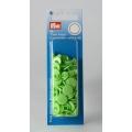 """393144 Prym Кнопки """"Color Snaps""""круглые цвет зеленого яблока 12,4 мм 30 шт."""
