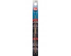 Крючок для вязания алюминиевый (серебристый) 14см / 2,5мм