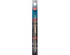 Крючок для вязания алюминиевый (серебристый) 14см / 4,0мм