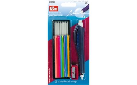 610846 Prym Меловой карандаш с точилкой и стержнями