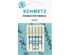705DE Иглы Schmetz с 2-мя ушками для декоративных работ №80 (5шт)
