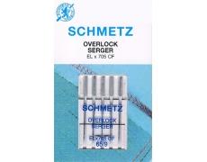 ELX705 SUK CF Иглы Schmetz оверлочные  №65 по 5шт.(хромированные)
