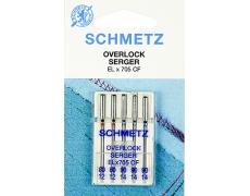 Иглы Schmetz оверлочные №80-90 ELX705 CF(хромированные)VZS