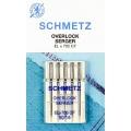 Иглы Schmetz оверлочные для трикотажа №90 ELX705 SUK CF(хромированные).