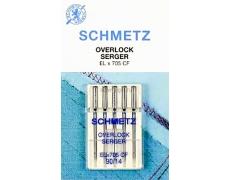 Иглы Schmetz оверлочные №90 ELX705 CF(хромированные).