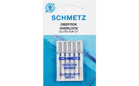 Иглы Schmetz к Сoverlock №90 ELX705 CF (хромированные)VDS