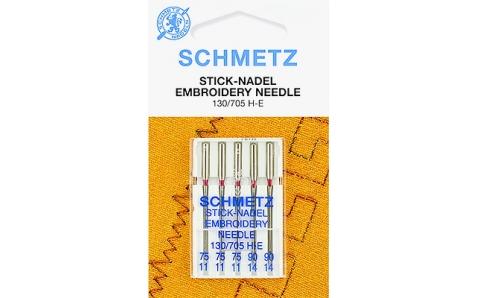 130/705H Иглы Schmetz вышив №75-90 по 5шт.