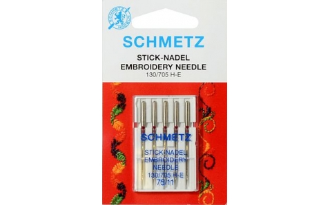 130/705H Иглы Schmetz вышив  №75 по 5шт (VMS)
