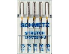 130/705H Иглы Schmetz стрейч №75-90 по 5шт.(3х75  2х90) V3S