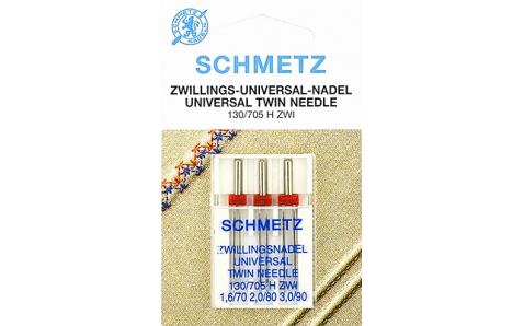130/705H Иглы Schmetz двойные  (1х70/1,6  1х80/2,0  1х90/3,0)