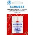 Игла Schmetz двойная для ниток металлик  №80/2,5 (130MET ZWI)